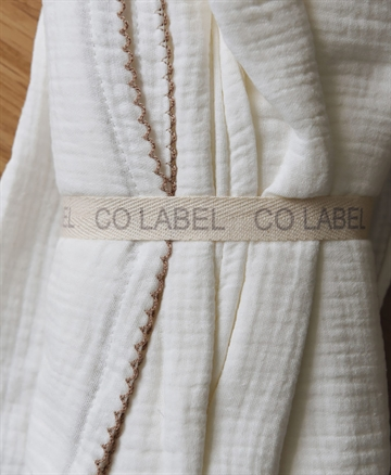 Co Label - 2-pak organic swaddle - Mushroom/Offwhite