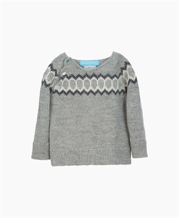 Serendipity - Uld Raglan Sweater - Grey