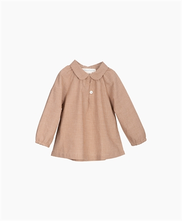 Serendipity - Baby Blouse - Walnut Square-Light woven
