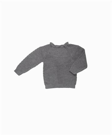 Selana - Uld Sweater - Schiefer